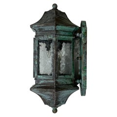 Single Handcrafted Solid Brass Wall Lantern