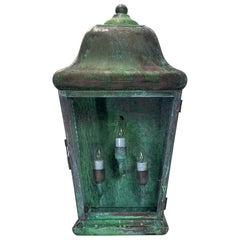 Single Handcrafted Solid Copper Wall Lantern