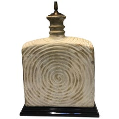 Single Italian Art Pottery Lamp