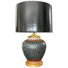Single Japanese Asian Porcelain Table Lamp