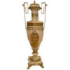 Single Large Alabaster Lamp