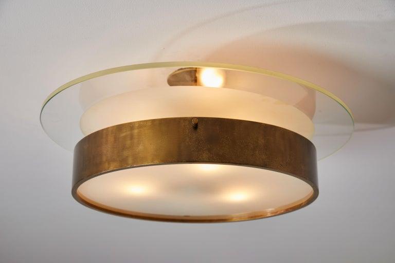 Single Large Flush Mount Ceiling Light By Stilnovo At 1stdibs