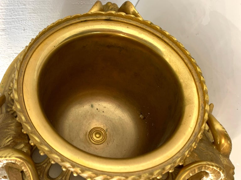 Single Louis XVI Style Ormolu and Marble Neoclassical Cassolette/Urn For Sale 5