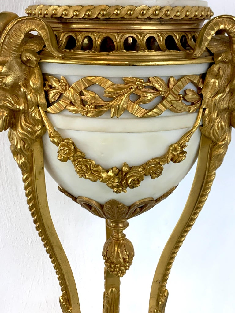 Single Louis XVI Style Ormolu and Marble Neoclassical Cassolette/Urn For Sale 6