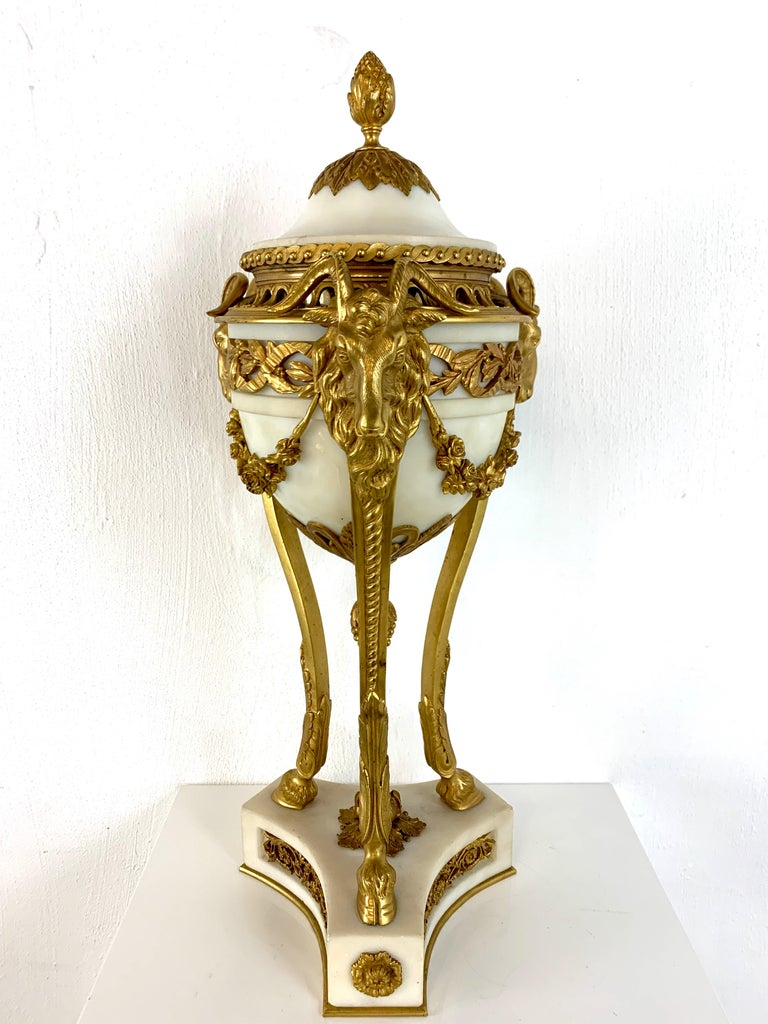 Single Louis XVI Style Ormolu and Marble Neoclassical Cassolette/Urn For Sale 8