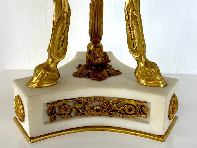 Single Louis XVI Style Ormolu and Marble Neoclassical Cassolette/Urn For Sale 9