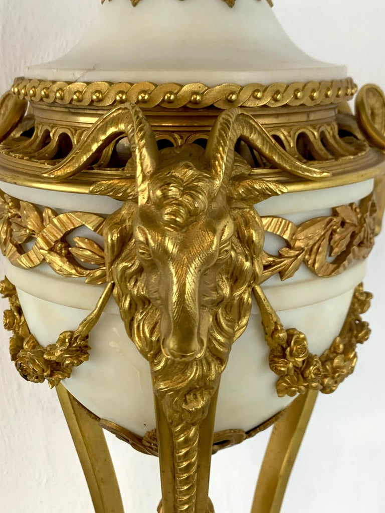 Single Louis XVI Style Ormolu and Marble Neoclassical Cassolette/Urn For Sale 3