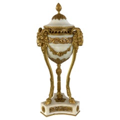 Single Louis XVI Style Ormolu and Marble Neoclassical Cassolette/Urn