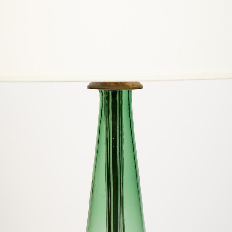American Single Midcentury Glass Lamp Attributed to Blenko Glass