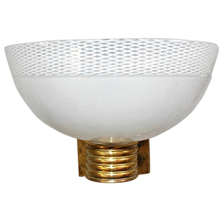 Single Murano Bowl Sconce by Venini FINAL CLEARANCE SALE For Sale