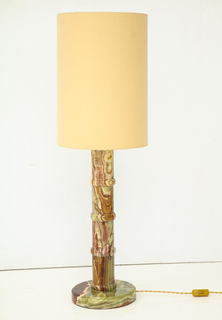 Single Onyx Table Lamp For Sale 2