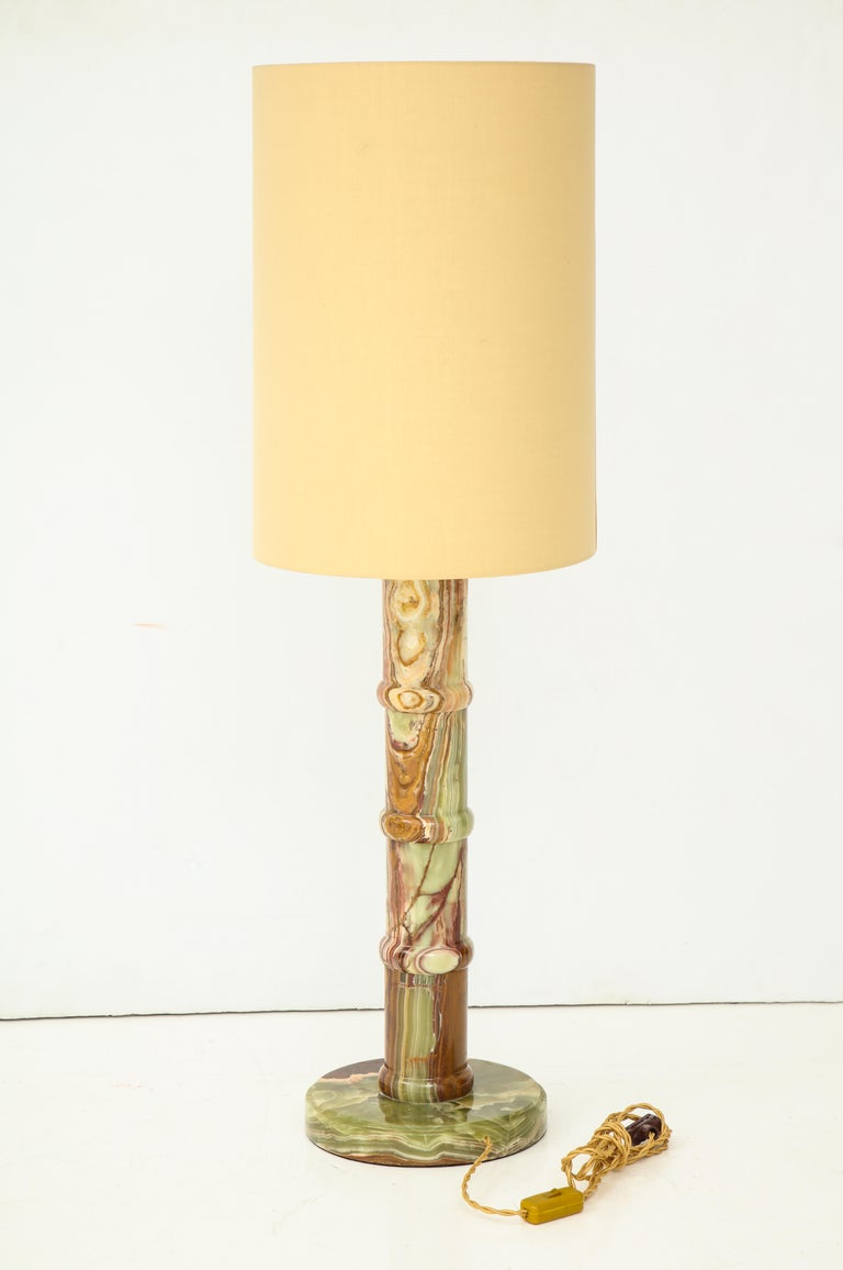 Single Onyx Table Lamp For Sale 4