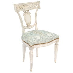 Single Painted Italian Classical Style Side Chair