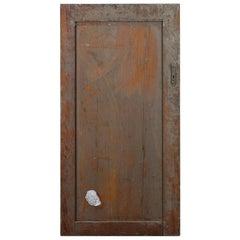 Single Panel Pitch Pine Cupboard Door, 20th Century