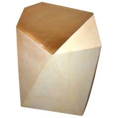Single Parchment Side Table