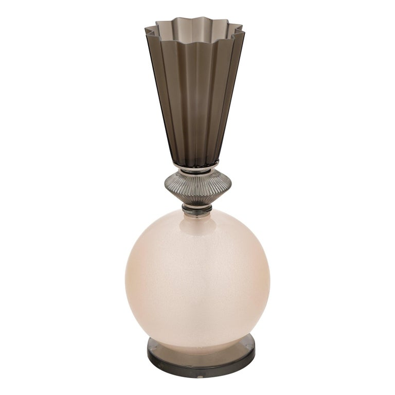 Single Pink Murano Glass Lamp For Sale