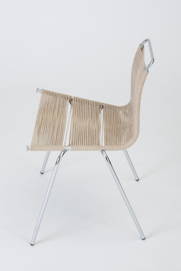 Single PK-1 Dining or Accent Chair by Poul Kjærholm for E Kold Christensen In Good Condition For Sale In Los Angeles, CA