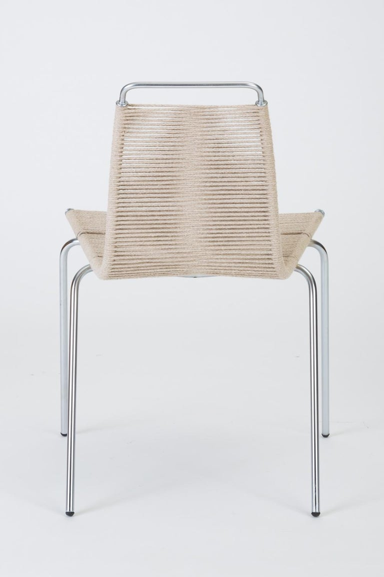 Steel Single PK-1 Dining or Accent Chair by Poul Kjærholm for E Kold Christensen For Sale