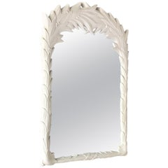 Single Plaster Mirror in the Manner of Serge Roche 1970s