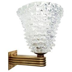 Single Rostrato Sconce by Barovier e Toso