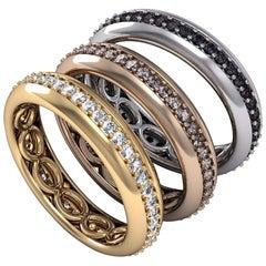 Single Row Stackable Diamond Ring