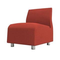 Single Seat Conversation Upholstered Red Sofa Satyendra Pakhale, 21st Century