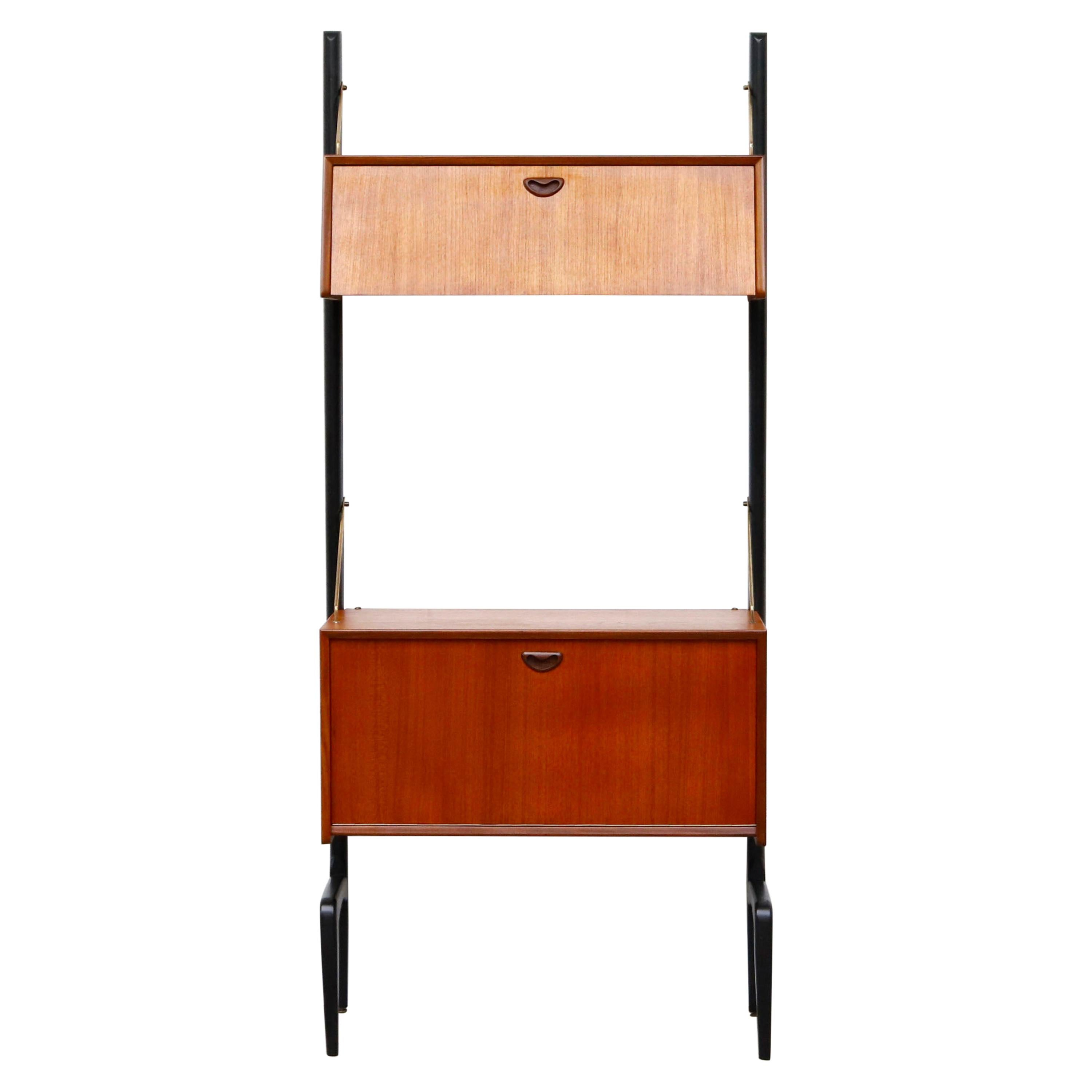 Single Section WeBe Shelving Unit with Cabinets by Louis Van Teeffelen