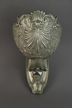 Single Silver Repose Sconce Circa 1920's