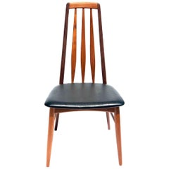 Single Solid Teak Danish Modern Niels Koefoed Desk Eva Chair