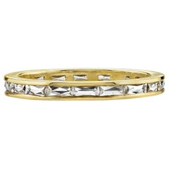 Handcrafted Emma French Cut Diamond Eternity Band by Single Stone