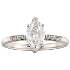 Single Stone Marquise-Cut Solitaire Diamond Ring