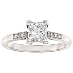 Single Stone Princess-Cut Solitaire Diamond Ring