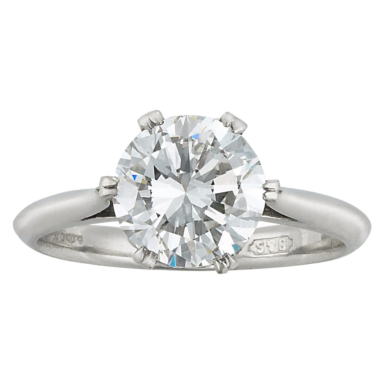 GIA Certified 2.05 Carat Internally Flawless Diamond Ring