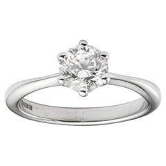 Single-Stone Solitaire Diamond Ring