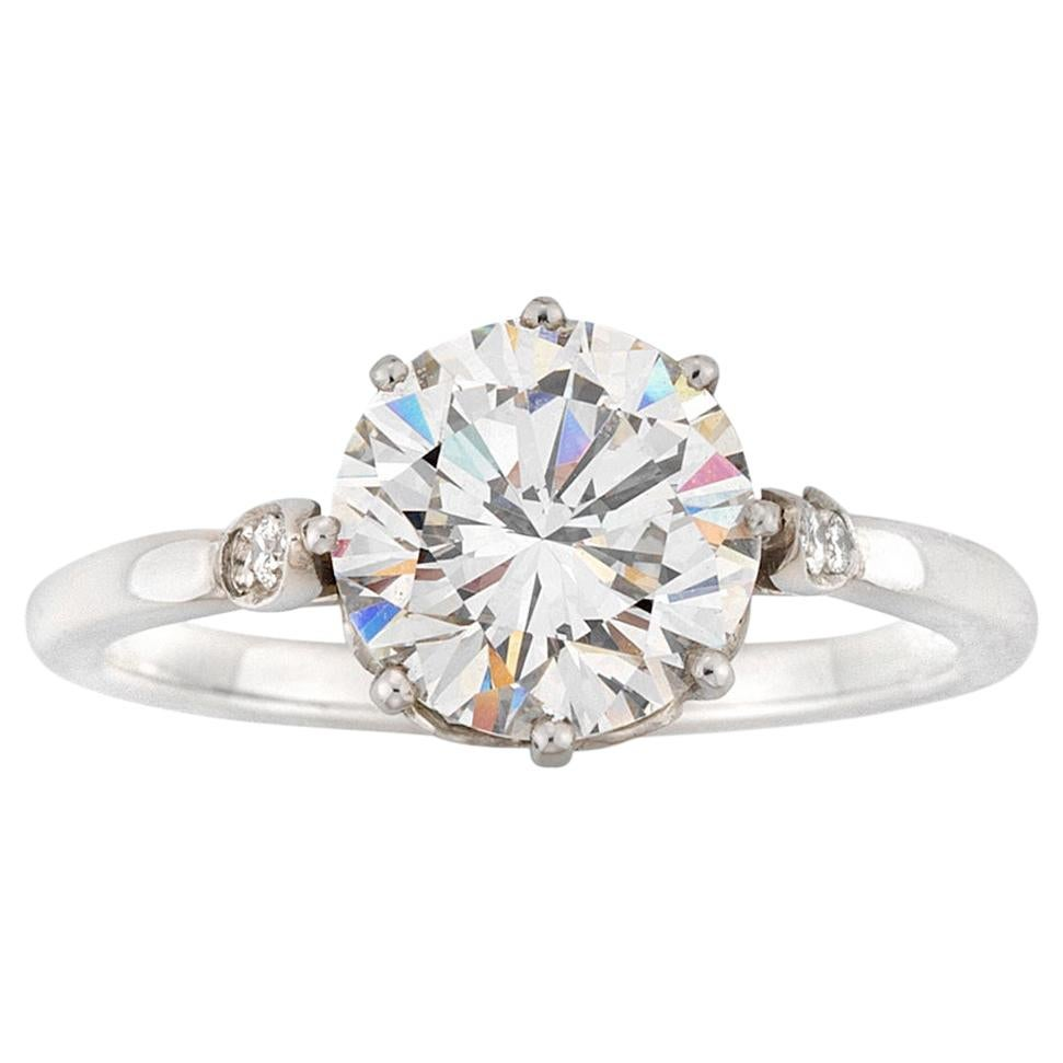Certified 2.12 Carat Solitaire Diamond Ring