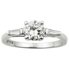 De Beers Certified 0.67 Carat Solitaire Diamond Ring