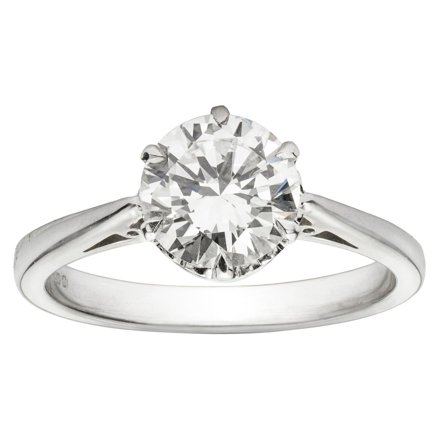 GIA Certified 1.51 Carat Solitaire Diamond Ring