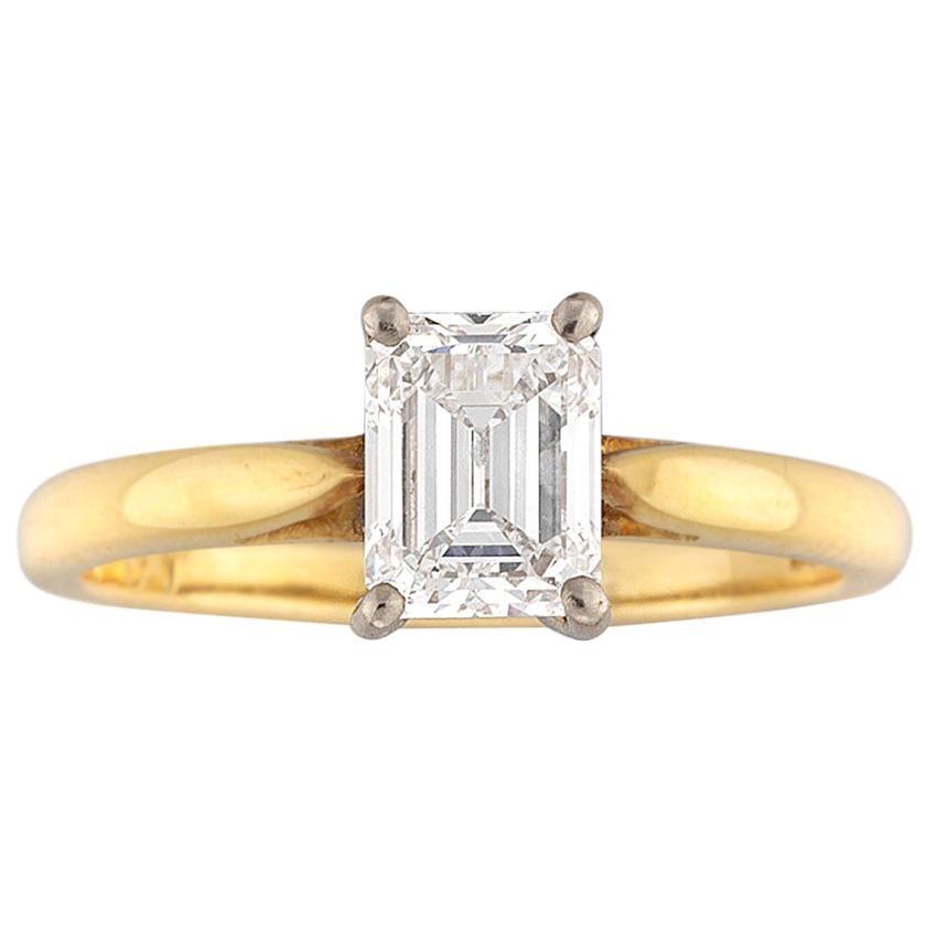 GIA Certified 1.2 Carat VVS2 Emerald-Cut Diamond Ring