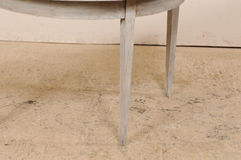 Single Swedish Painted Wood Demilune Table, circa 1880 For Sale 1