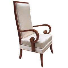 Single Tall Back Art Deco Armchair
