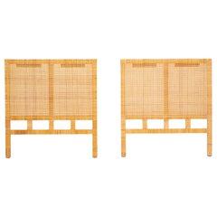 Single Twin Headboard in Woven Cane by Danny Ho Fong for Tropi-Cal