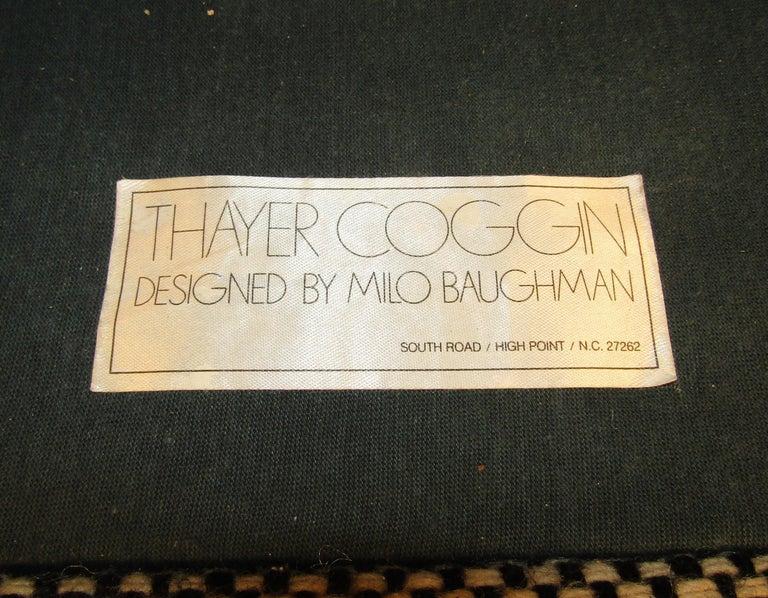 Wood Single Vintage Modern Milo Baughman Chair For Sale