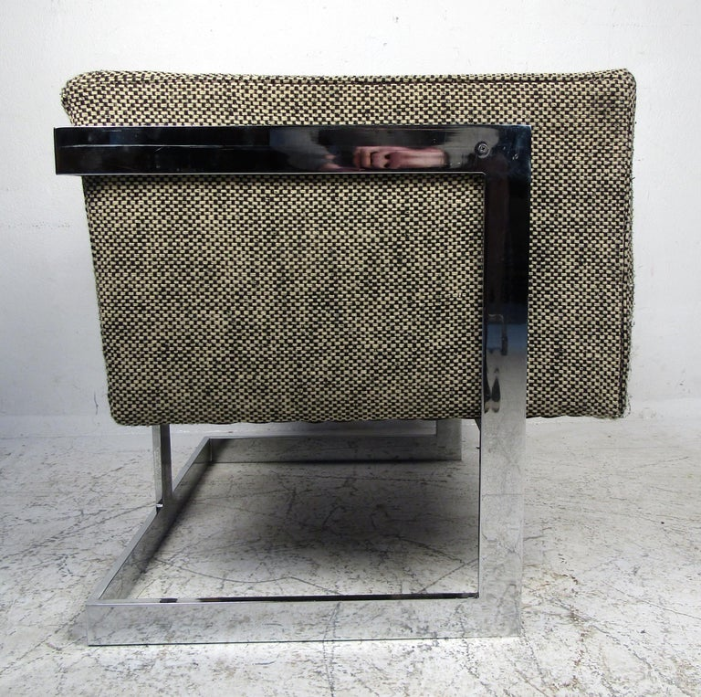 Single Vintage Modern Milo Baughman Chair For Sale 2