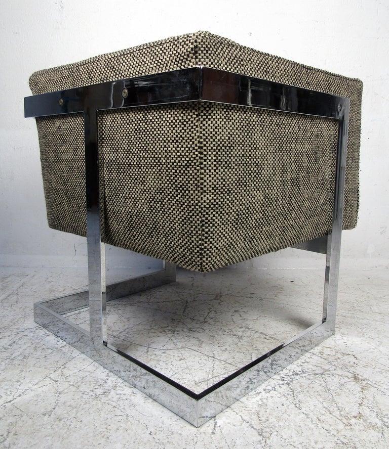 Single Vintage Modern Milo Baughman Chair For Sale 3