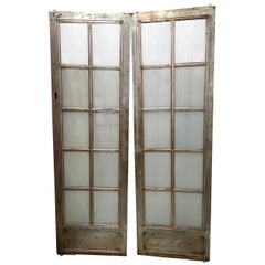Single Vintage Steel Elevator Door