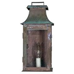 Single Wall Hanging Copper Lantern