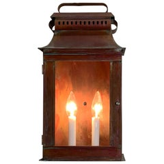 Single Wall Hanging Solid Copper Lantern