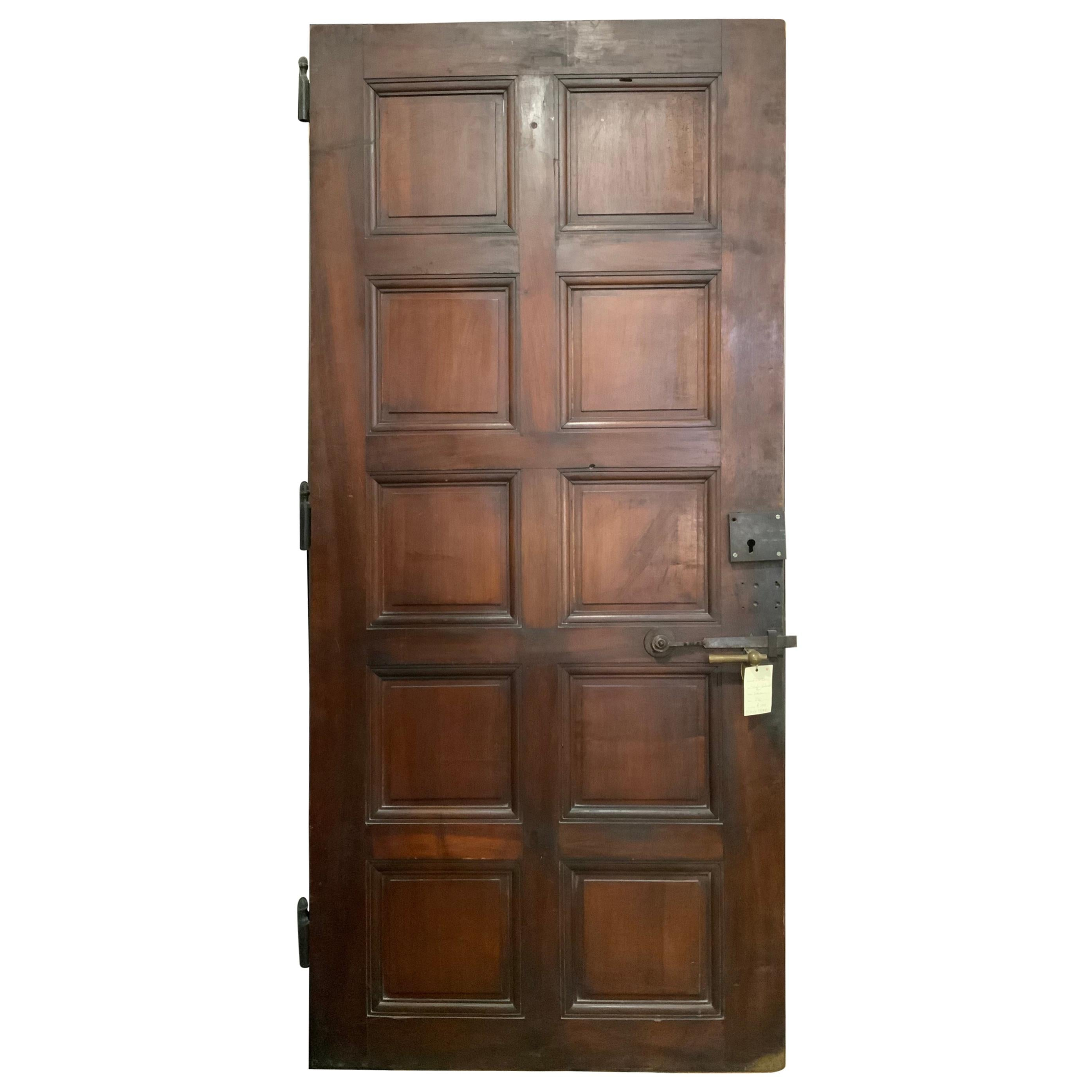 Single Walnut Door from France