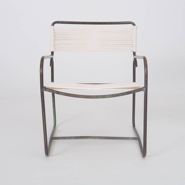 20th Century Single Walter Lamb Patio Lounge Chair and Ottoman Set For Sale