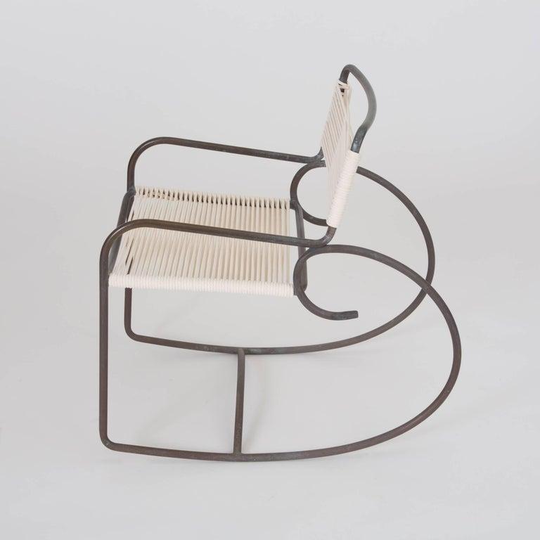 American Single Walter Lamb Rocking Chair for Brown Jordan For Sale